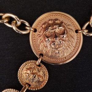Gold Lion head chain belt
